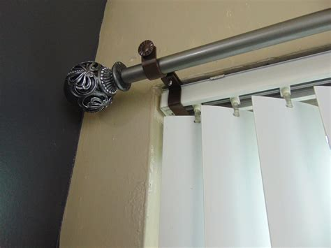 curtain rod for bay window inside mounted blinds curtain rod bracket attachment the