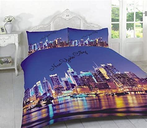 Gold Star Duvet Cover by New York City 3d Effect Duvet Cover Bedding Set