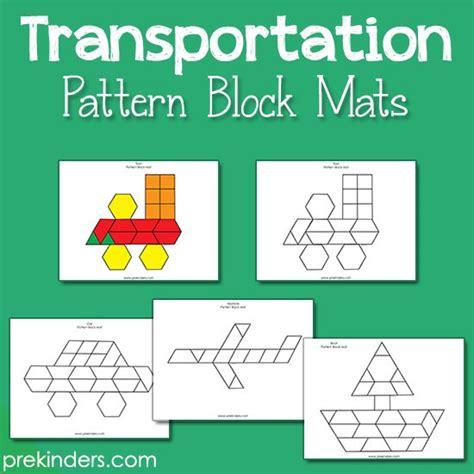 transportation songs for preschool transportation pattern block mats design 672