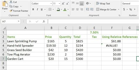 relative  absolute cell references  excel