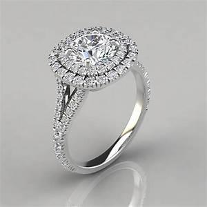 split shank double halo engagement ring puregemsjewels With double halo wedding ring