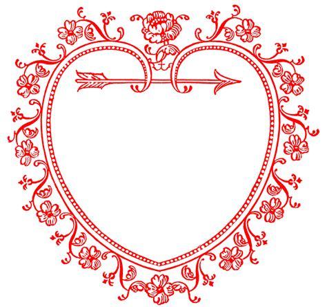 Vintage Valentine's Day Clip Art - Sweetest Heart Frame ...