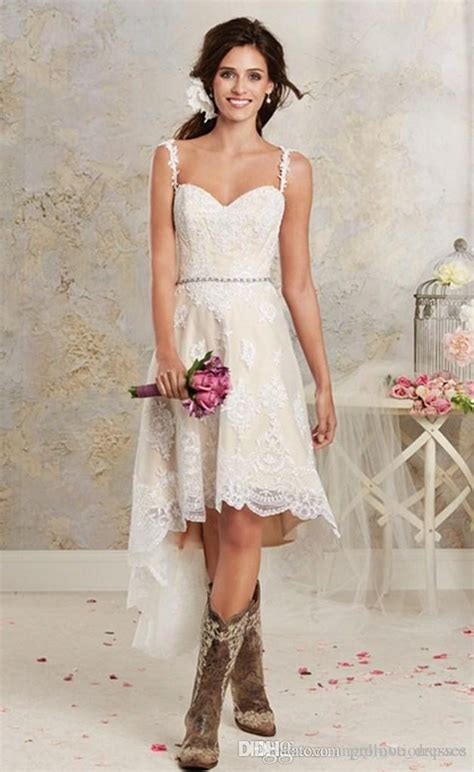 discount lace country wedding dresses  detachable