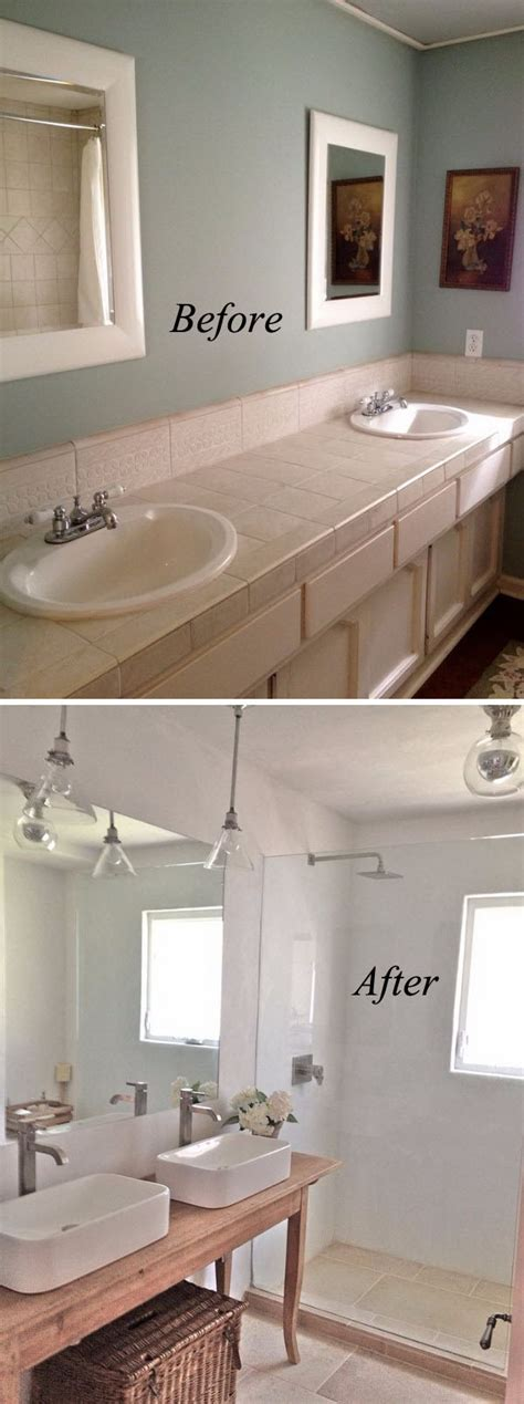 Makeovers For Small Bathrooms by 37 Small Bathroom Makeovers Before And After Pics Home