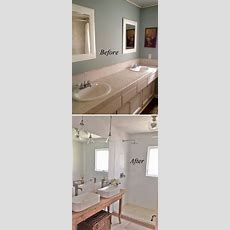 37 Small Bathroom Makeovers Before And After Pics Home