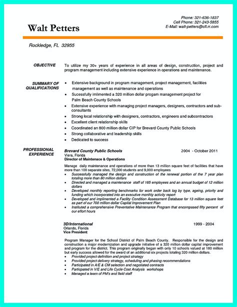 Construction Resume by Simple Construction Superintendent Resume Exle To Get