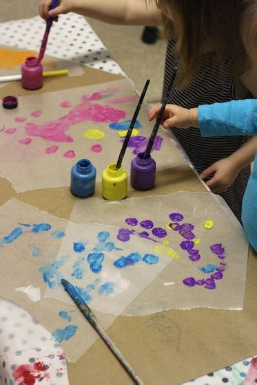 create stained glass art  wax paper