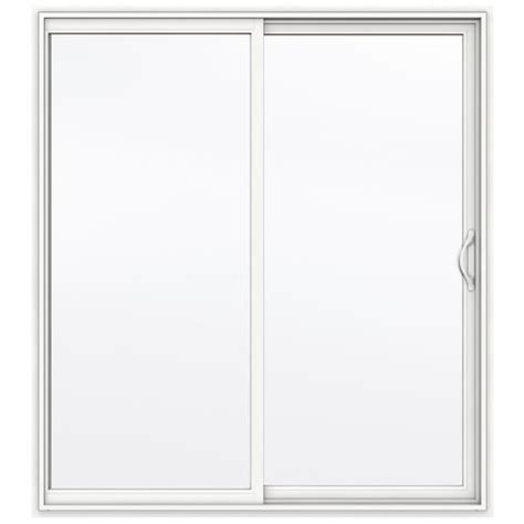 jeld wen builders series clear 60 quot x 80 quot white vinyl right