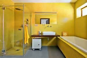 moderne badezimmer ideen wandfarbe gelb eine sonnige stimmung im badezimmer haben