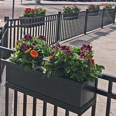 rail planter hook 5 foot 60 quot charleston hanging deck rail planter 1711