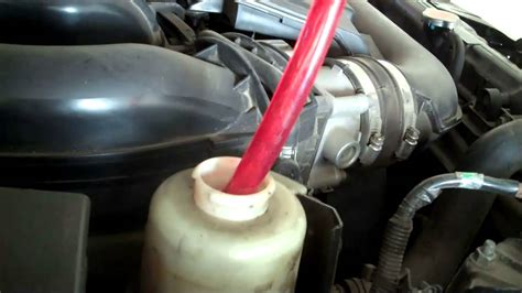 nissan frontier power steering fluid change youtube