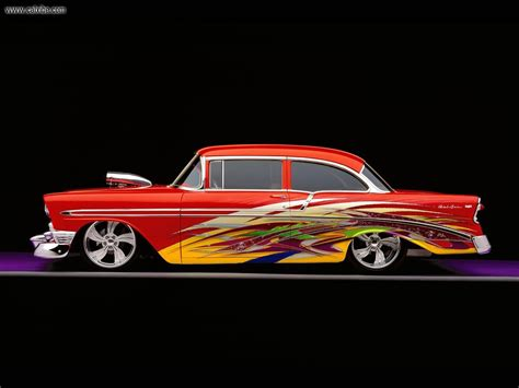 57 chevy bel air custom totally diggin the paint job