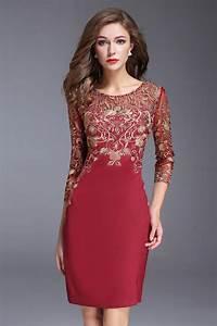 Robe Rouge Mariage Invité : robe pour mariage invit bordeaux manche manche trois quarts ~ Farleysfitness.com Idées de Décoration