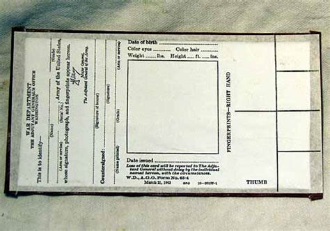 ww reproduction military paperwork