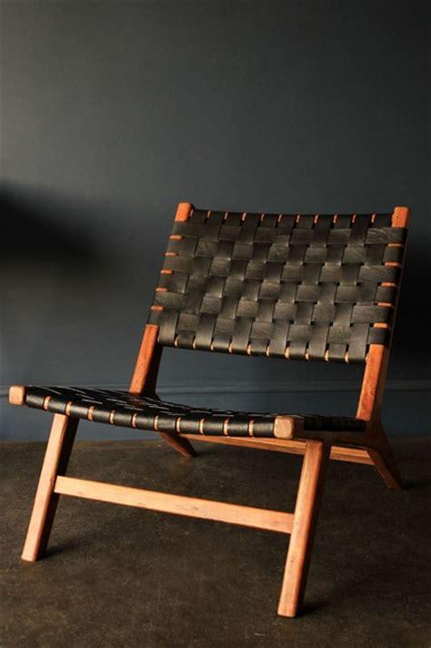 copenhagen chair woven black leather armchairs