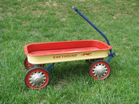 vintage hamilton greyhound metal toy wagon