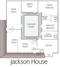 center courtyard house plans   square feet      bigger houses  chose