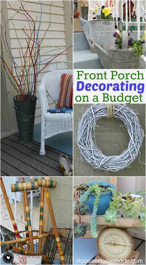 outdoor decorations ideas on a budget front porch decorating ideas on a budget hoosier