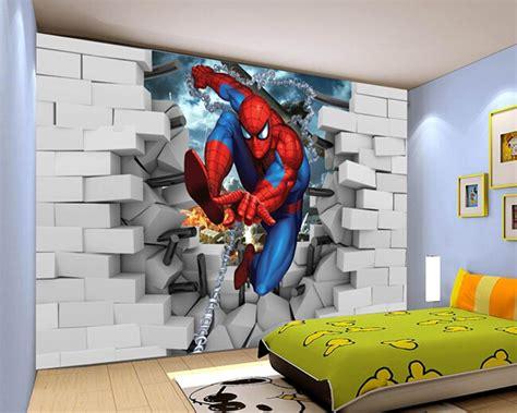 custom papel de parede infantilspiderman  mural