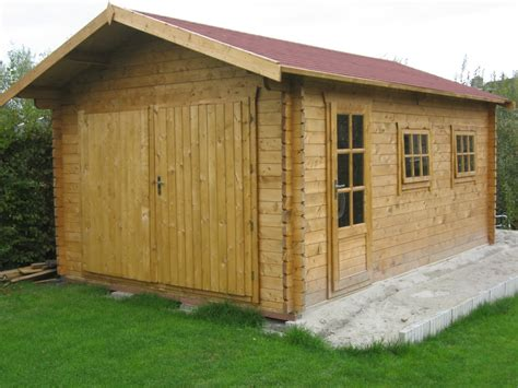 log cabin garage 45mm log cabin garage geir