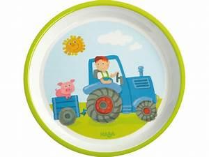 Kindergeschirr Zum Spielen : teller traktor kindergeschirr zubeh r praktisches haba erfinder f r kinder ~ Orissabook.com Haus und Dekorationen