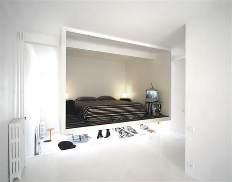 suspended bedroom super cool suspended bedroom creatively maximizes 50m2 apartment