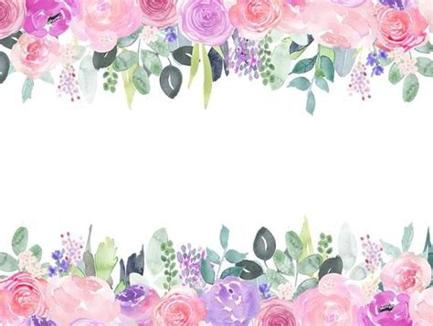 watercolor floral clip art pink  purple rose flower