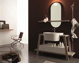 Salle De Bain Exotique : un salle de bain exotique marron gris et bois ~ Teatrodelosmanantiales.com Idées de Décoration