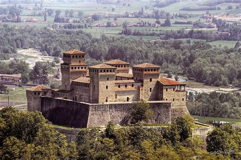 beautiful wall clocks for your home quot castles castle of torrechiara quot by paolo1955