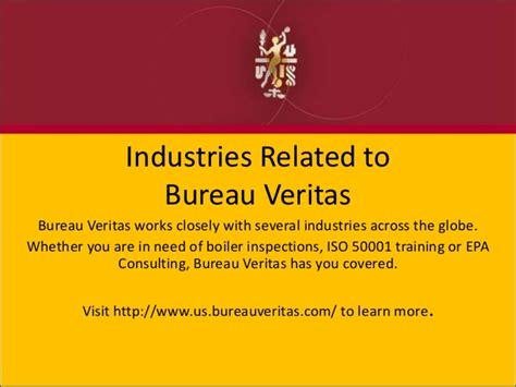 bureau veritas global shared services industries related to bureau veritas