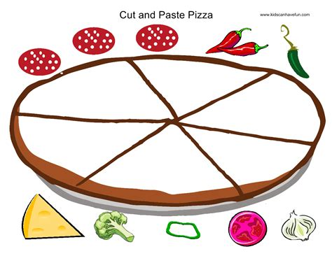 cut and paste pizza practice cutting skills pizza play