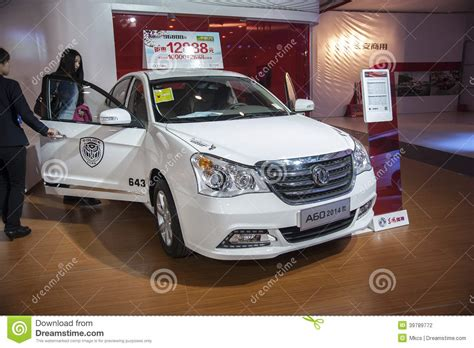 porte ouverte cing car white dongfeng a60 car opened door editorial photography