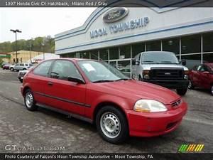 Milano Red - 1997 Honda Civic Cx Hatchback