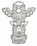 Totem Coloring Pole Poles Printable Getcolorings Terrify sketch template