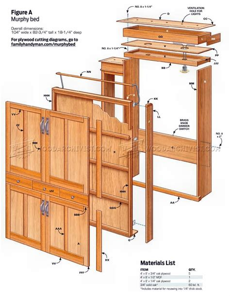 build murphy bed furniture plans murphy bed