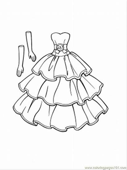 Clothing Coloring Printable Gloves Pages Goes Dresses