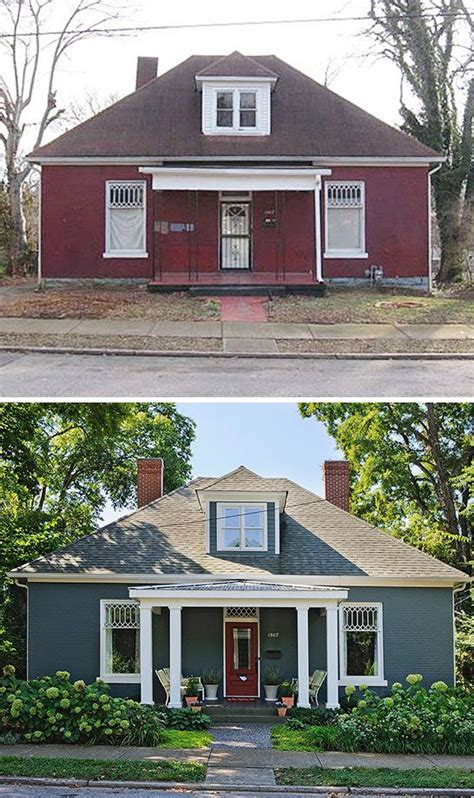 Exterior Small Home Design Ideas by Small House Exterior Before And After Before Afters