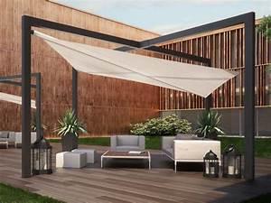 Toile Tendue Jardin : toile tendue creme pour terrasse salon de jardin salon ~ Melissatoandfro.com Idées de Décoration