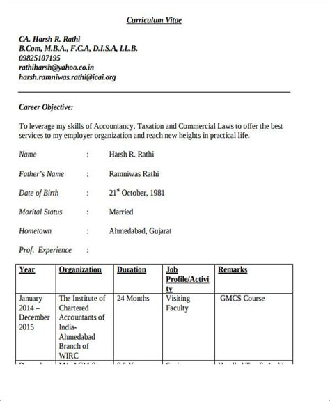 Experienced Accountant Resume by 28 Accountant Resume Format