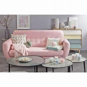 Sofas Maison Du Monde : scandinavian pink fabric 2 3 seater sofa iceberg maisons ~ Watch28wear.com Haus und Dekorationen