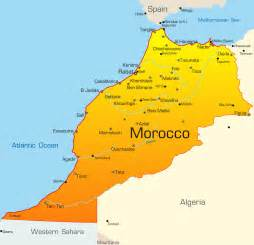 Morocco Map with cities - blank outline map of Morocco- Morocco