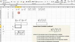How To Make A Scatter Plot In Excel Scatter Plot And Correlation Coefficient Excel Youtube