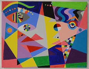 Hommage to Picasso contemporary painting by artist Bruce Gray