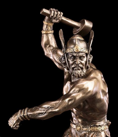 thor figur wikinger gott statue donnergott hammer