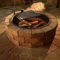 fire pit rings Necessories Compact Fire Ring with Grate - Fire Pits at ...