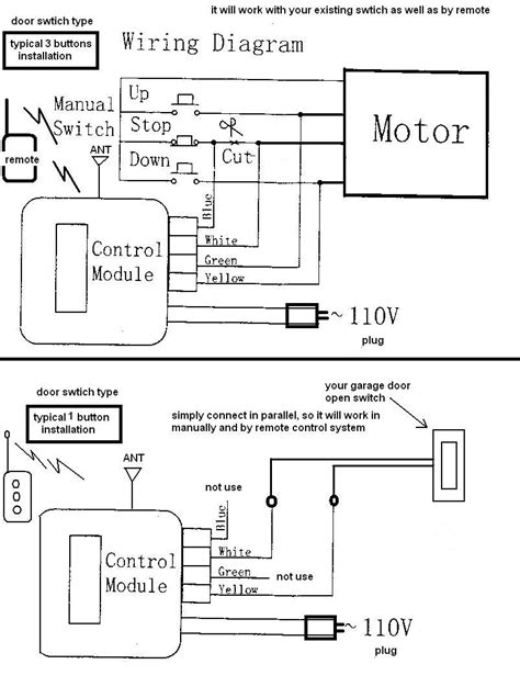 Safety Sensor Wiring Diagram by Use A Foscam Or Clone To Liftmaster Garage Door