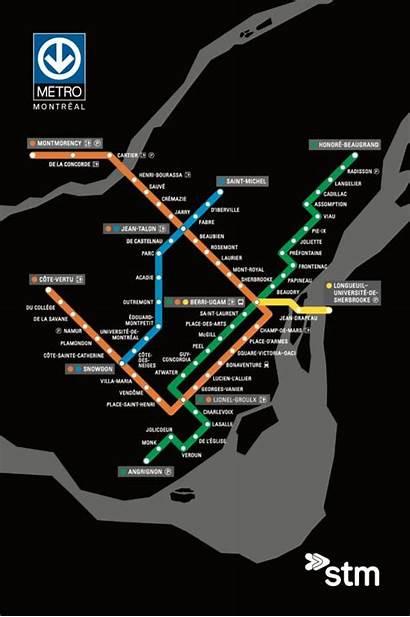 Metro Plan Carte Stm Postale Savane