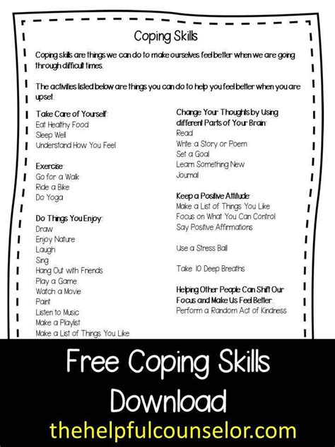 Free Coping Skills Download And New Counseling Games And Activities! « The Helpful Counselor
