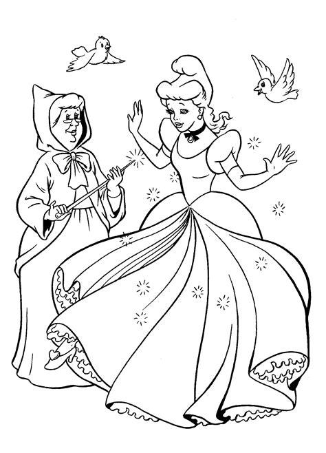coloring page  cinderella dress