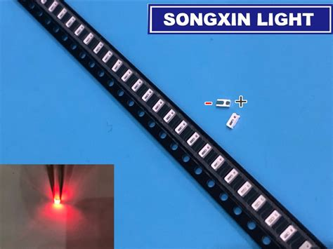 3014 Smd Led 50 Pcs/lot Chip Red Ultra Bright 0.2w 6 8lm